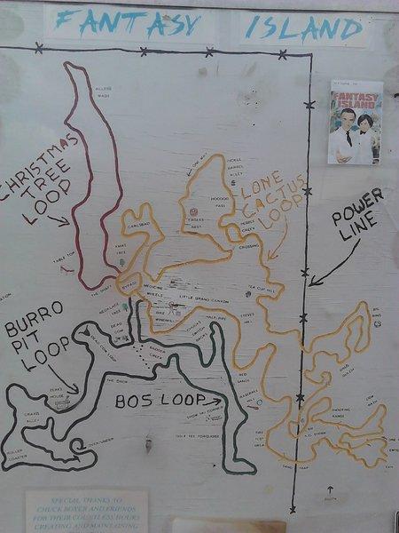 Fantasy Island Trailhead Map Tucson AZ