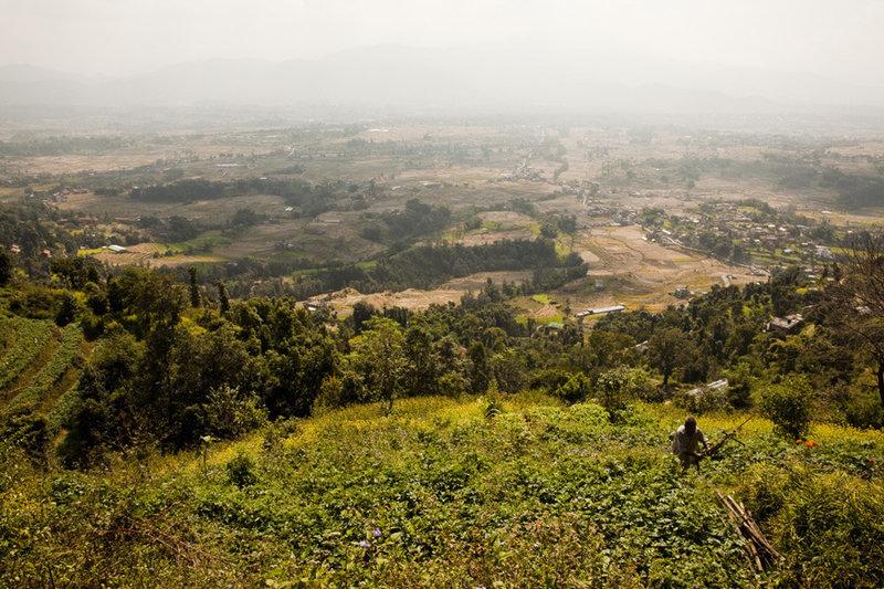 Views across the southern Kathmandu Valley