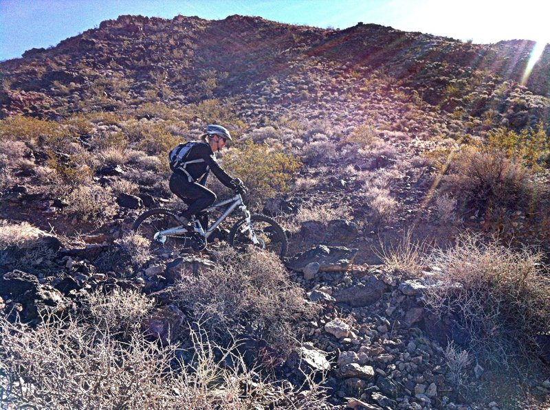 Riding Boy Scout trail in Bootleg Canyon