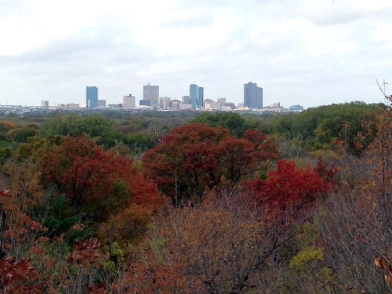 Great views of Ft Worth from the Hill - Gateway Park trail