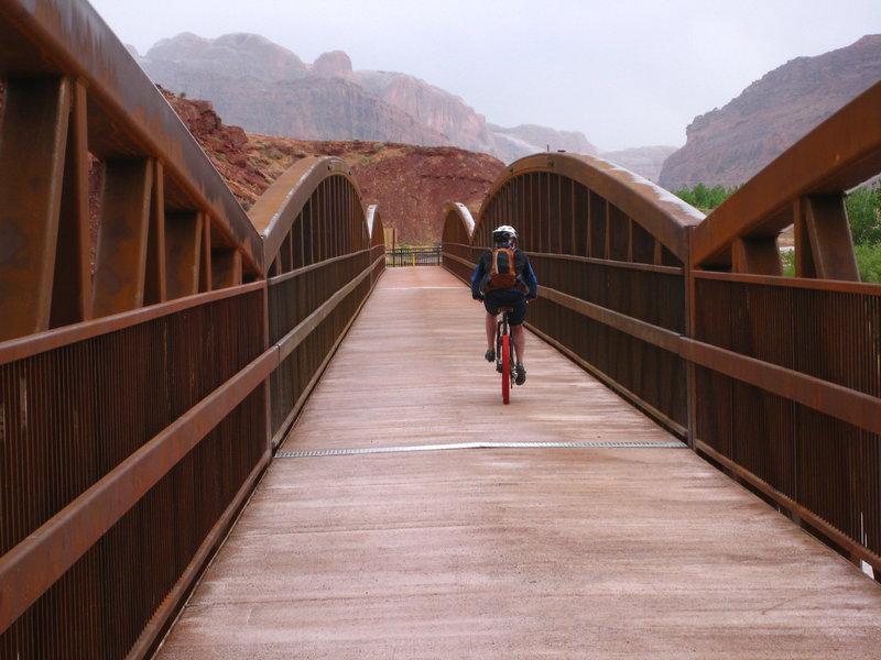 The pedestrian bridge.