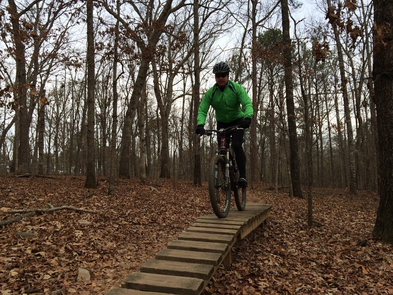 The Climbing Snake trail has some fun features like bridges and rock gardens.