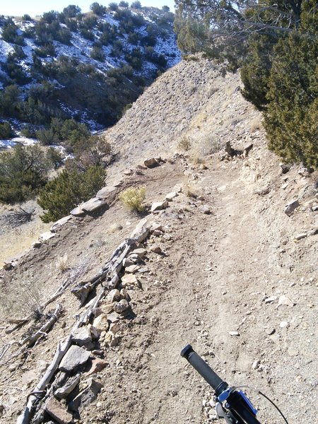 Tight switchback on Coyote Trail
