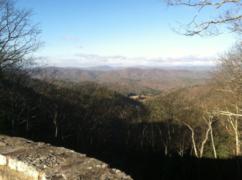 View looking west from Confederate Breastworks