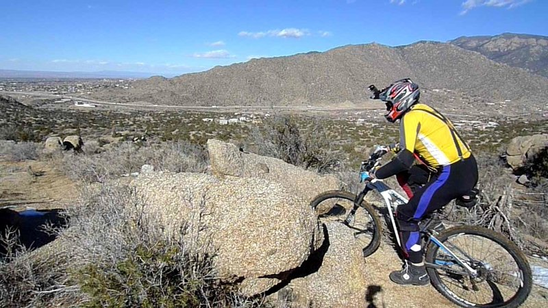 Boulders add terrain interest. South Foothills and Foo Loop trails are in the left background.