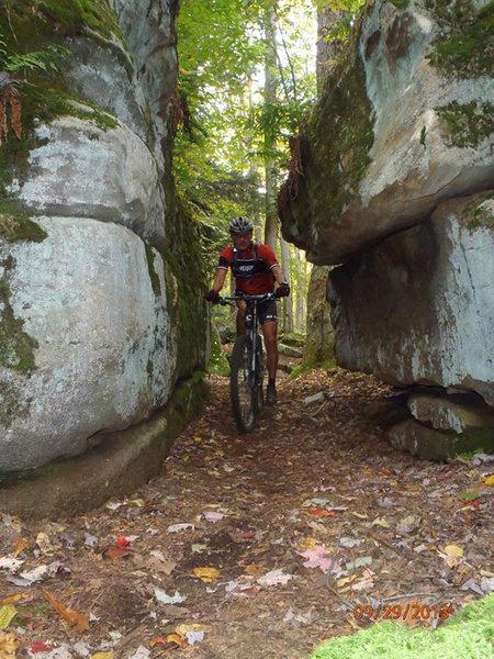 Through the crevice on Outcrop