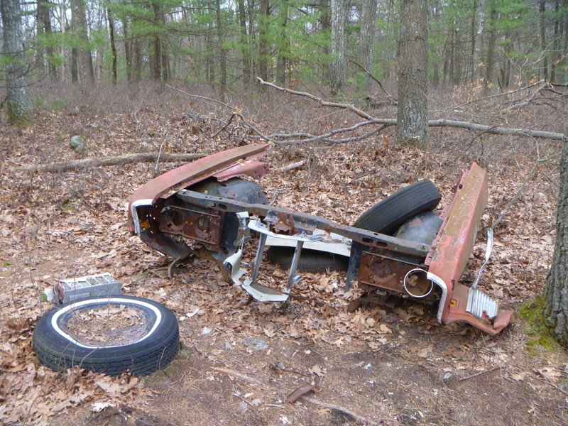 One of many junked cars littering the Land Locked Forest