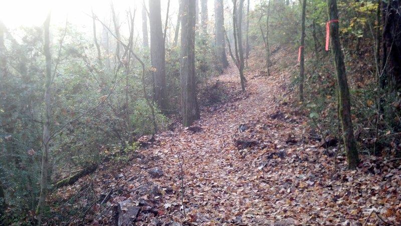 New singletrack: Keyhole Trail.