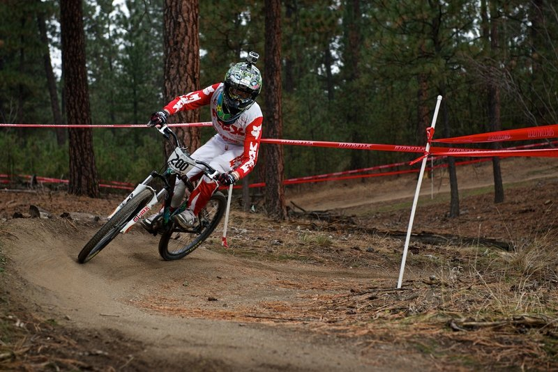 Eyes up during the All Gravity Series race at Camp Sekani.