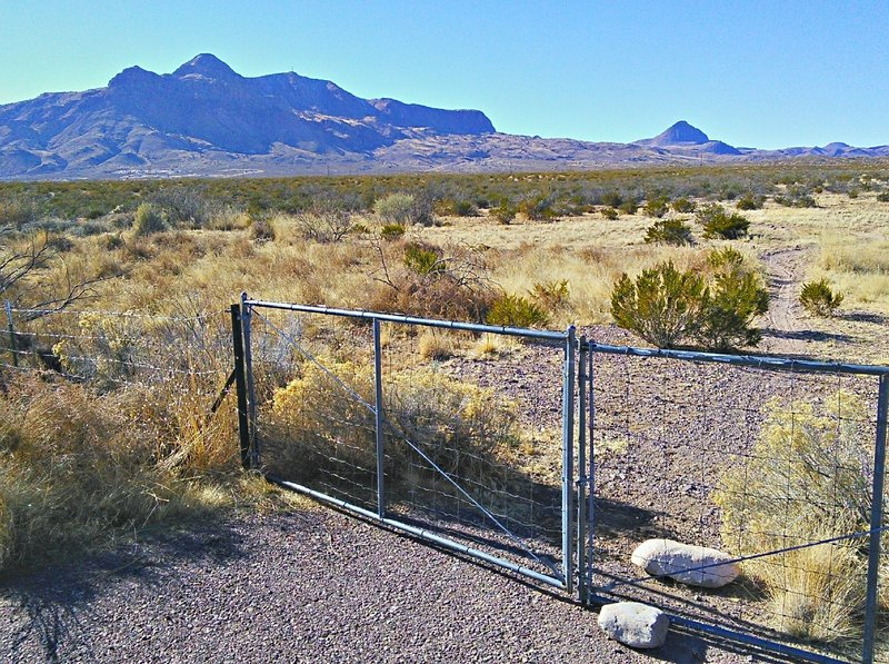Gate at the trailhead. Please be sure to keep the gate closed.