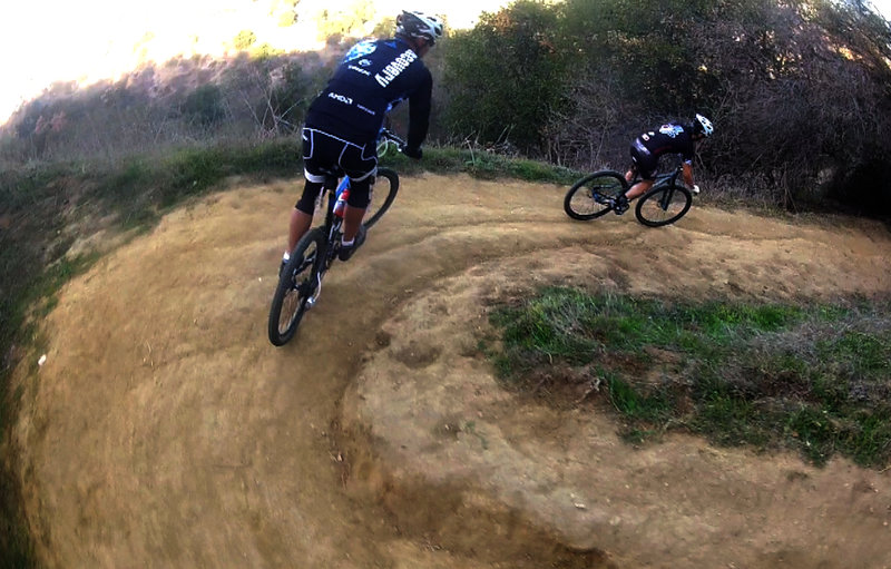 The first of many clean switchbacks, this descent is beautiful and thrilling.