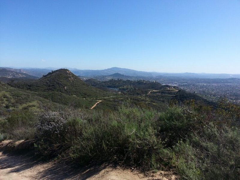 Another view of trail and Escondido
