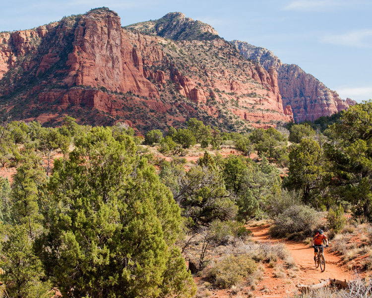 Easy going with big views is what you'll find riding in the Phone Trail.