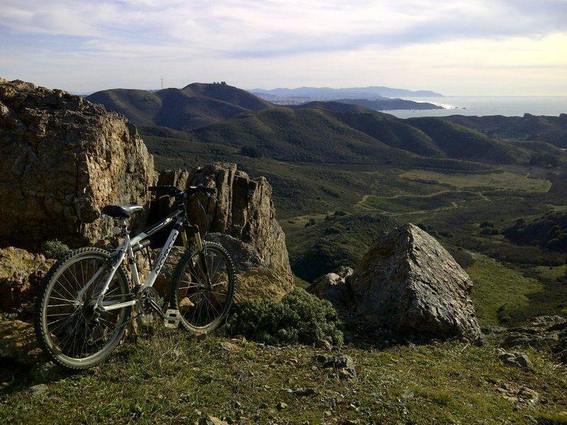 Biking at Marin County
