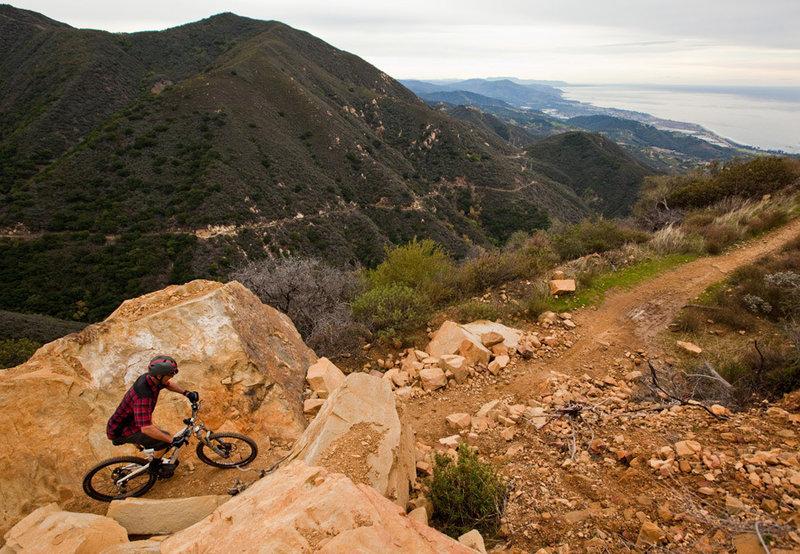 Killer views from the climb up Romero Road