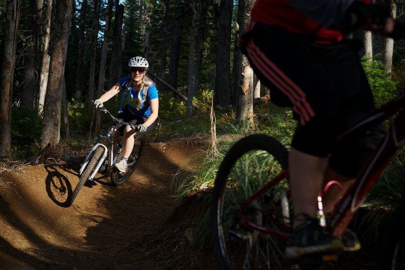 Tacky berms on Mount Spokane.