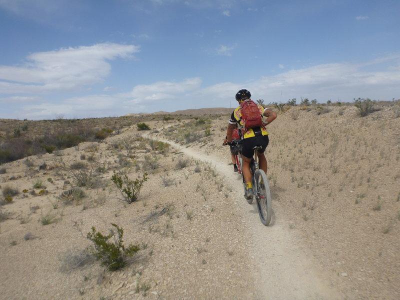 Singlespeed trail singletrack