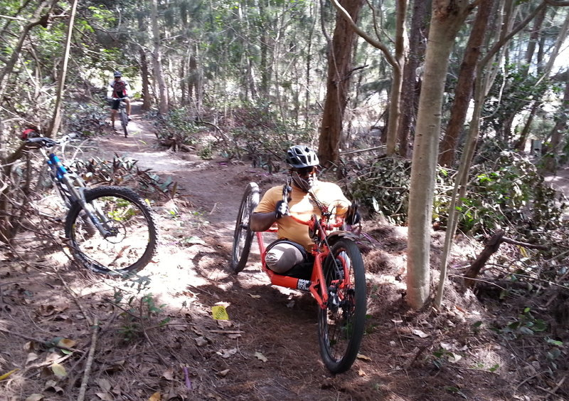 New section of our Adaptive Trail designed for handcrank bikes.