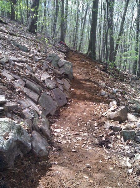 Orange Trail winding through the rocks.