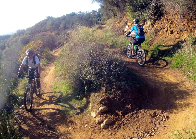 One of only a few switchbacks on the Backbone Trail