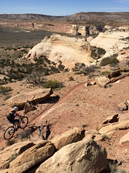 Over 6 miles of great singletrack on the Western Rim