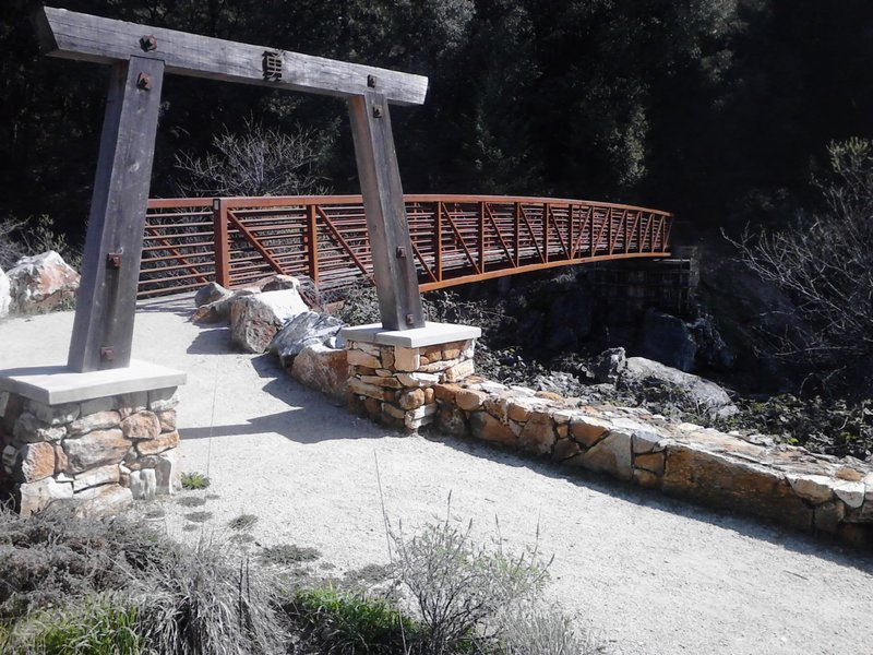 Historic area(see signs) and a plush bridge over to the *small loop