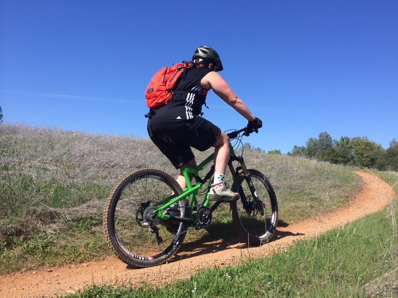 Enjoying the singletrack. Excellent XC trail to get back in riding shape. Ridden in the spring when the trails were no too dry and temps were not too high. 3.22.14