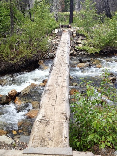 West Fork Trail - Log Bridge - marking the beginning of the West Fork (Methow River) Trail