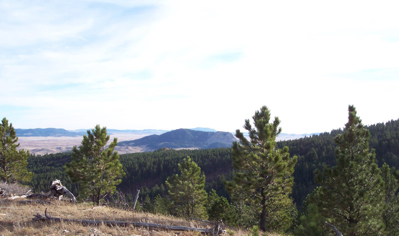 View looking south towards Sundance Mountain