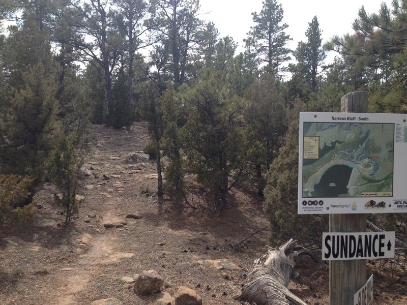 Junction of Sundance and Slide Hill Loop. This is not Sundance Wy, nor it is Where they have the film festival!