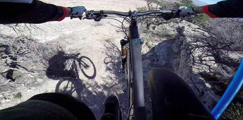 Slickrock ledge drop