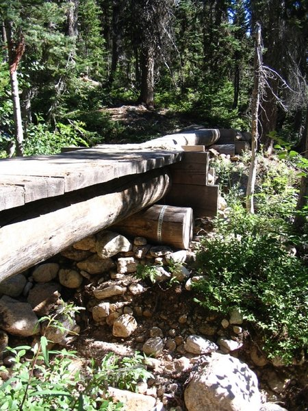 Bridge over Cutthroat Creek to the lake