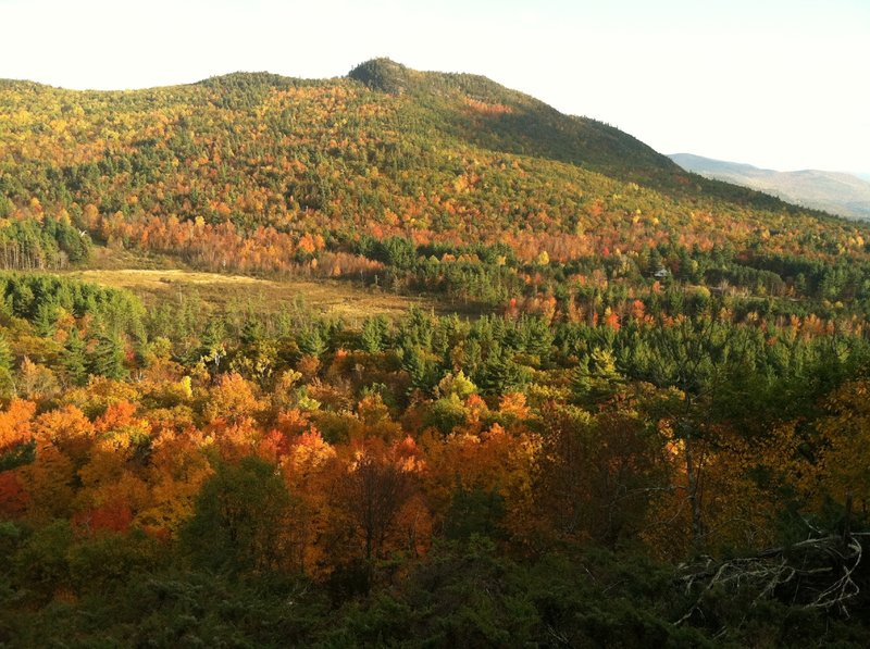 Winch Mountain and the Beaver Brook valley in Wilmington
