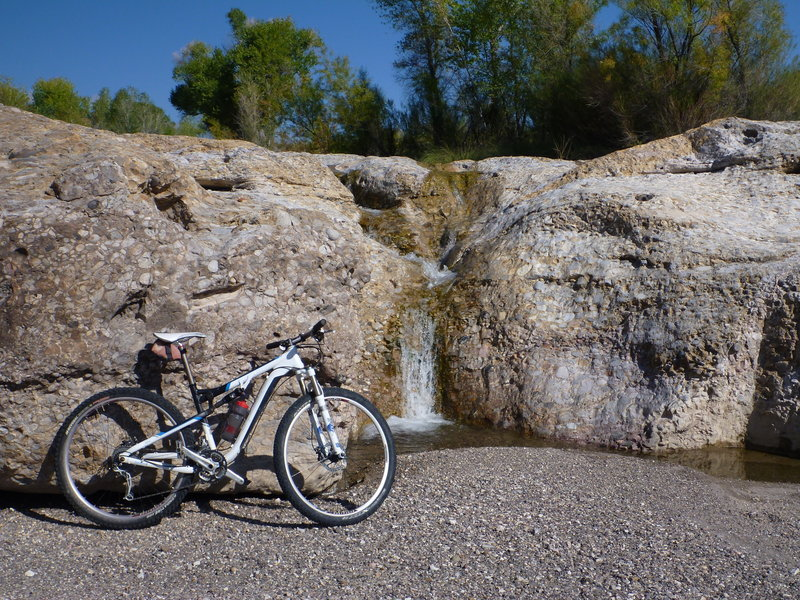 Fresno Cascades, one of several springs on the Epic Loop