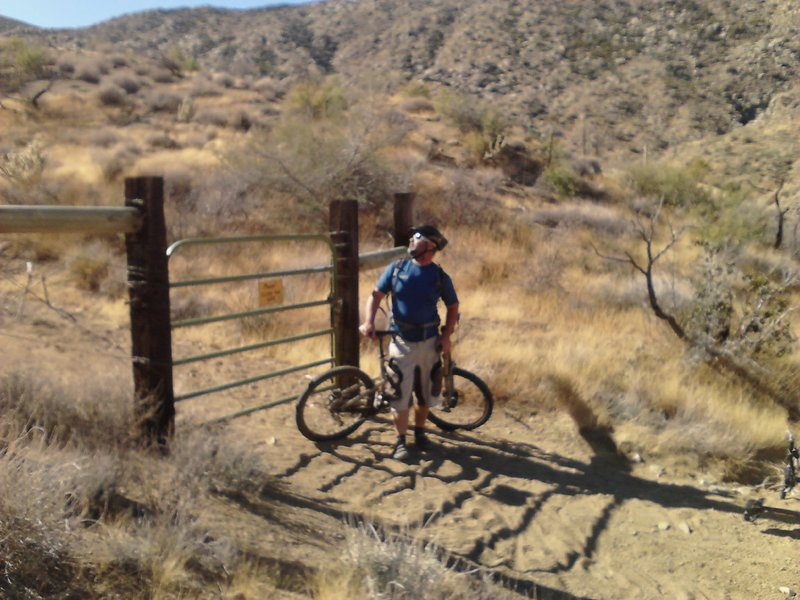 second gate that needs to be CLOSED behind you!  The Wellman family thanks you for not letting there cows out.....