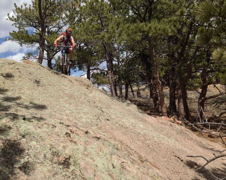 Fun technical rock riding describes the short 2% trail.