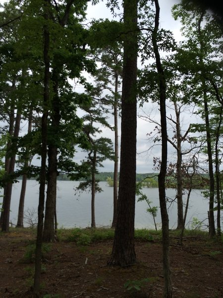 View of Lake Ouachita a top of first climb.