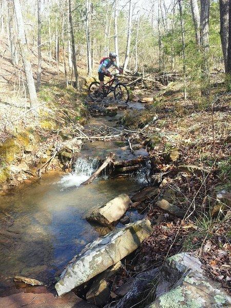 Seasonal creek crossing at the bottom of the North Loop.