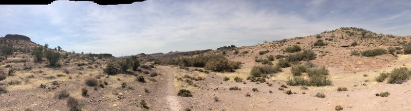 Panoramic view of Monolith trail