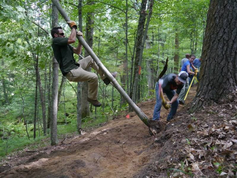 New trail built in 2013 with the help of the IMBA Trail Care Crew!  Thanks Jesse & Lori!