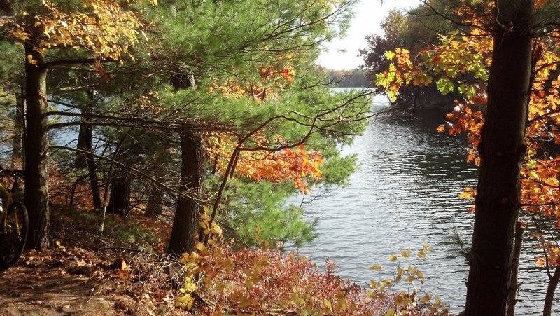 Beautiful autumn scenery from the new trail at Vigil Cove.