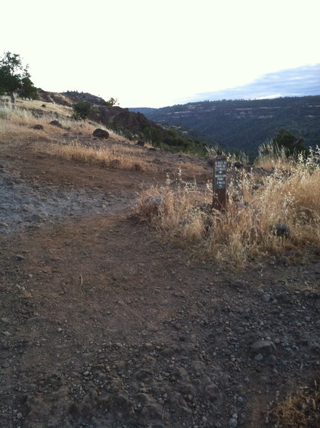 Start of B trail. Fast, techy singletrack coming up.
