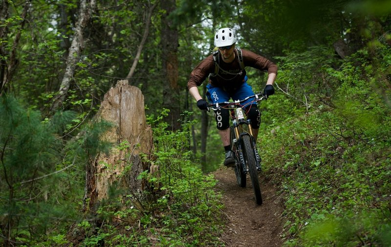 Kyle riding Trail 257 in fine form.