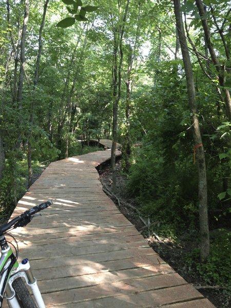 350 ft cedar boardwalk, very nice