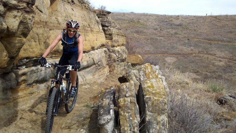 Hell Creek Loop. Dakota Sandstone Formation.