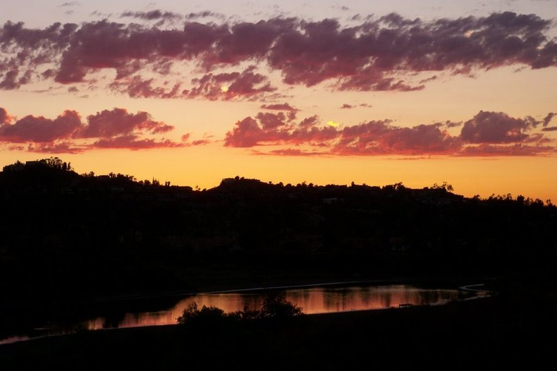 Sunset over the reservoir.