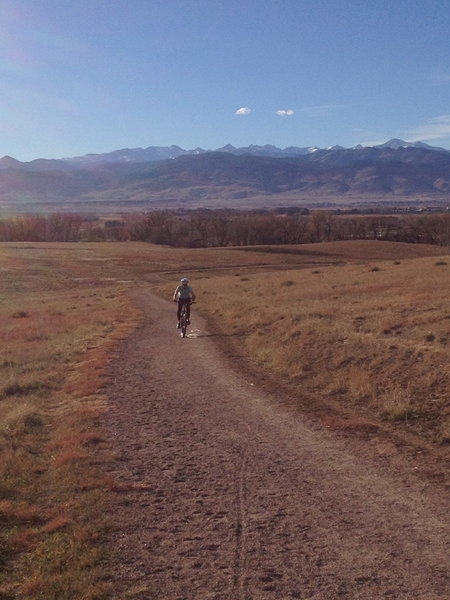 A short climb along the Niwot Loop.  Beautiful views of the front range despite the proximity to a Niwot subdivision.