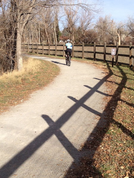 The LoBo trail, just after it crosses N 71st St. headed towards Niwot.