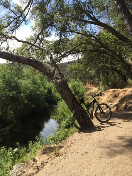 River and trail.