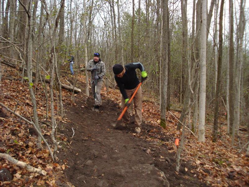 IMBA Trail Crew Build day, November 2013